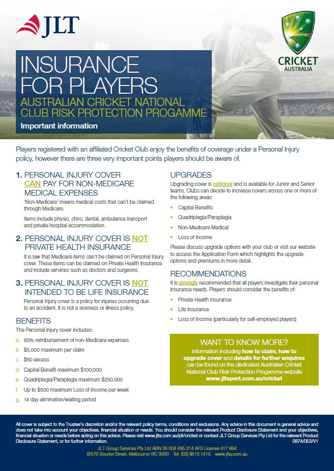 insurance flyer cricket north west